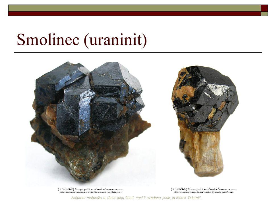 Smolinec (uraninit) [cit. 2011-09-16]. Dostupný pod licencí Creative Commons na www: